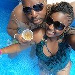 at bar in pool