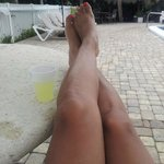 Relaxing with my margarita:)