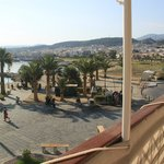 Вид с балкона в одну сторону