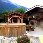 Outdoor spa in the garden :)