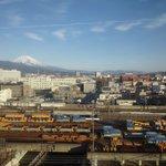 富士山と三島駅