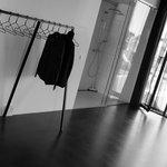 No closed closet just rack