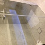 Slimline shower door that leaked
