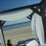 the beach lounges give an almost mediterranean feel...