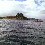 Castle ruins on Loch Moidart.