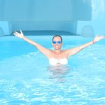 The hotel's amazing swimming pool
