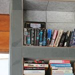 Dominoes on top shelf