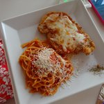 Chicken Breast with Spaghetti and Tomato sauce