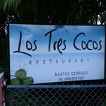 Our official Los Tres Cocos entrance sing! Welcome to our restaurant