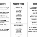 sample drinks menu