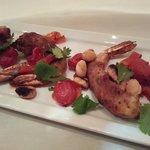 Ill-fated gambas serrano - Spanish ham wrapped, overcooked shrimp