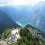View from top of Mount Jenner of Lake Konigssee