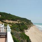 strand vanaf balkon