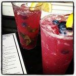Outside at the Beach Bar having Blueberry Lemon Drop..Yum!