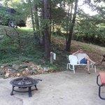 Sitting area near swimming pool