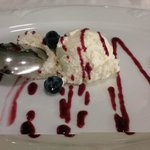 Un des desserts à la carte - une crème onctueuse