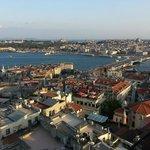 Istambul ao final da tarde da Torre Galata