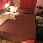 stanza piccolina per tre persone,ma molto pulita