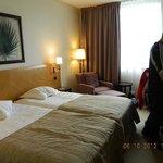 Quarto do hotel NH em Lusemburgo