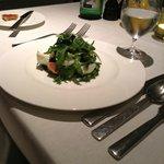 Mozzarella di Bufala with black figs salad