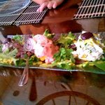 Octopus, shrimp and chicken causa