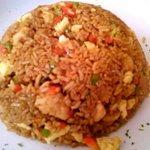 Arroz chaufa - Shrimp and Chicken fried rice