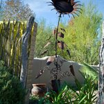 Metal Sunflower sculpture