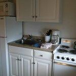 Full kitchen in room