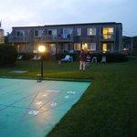 Shuffle board on hotel grounds!