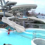 One of the water slides