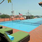 Rooftop pool & view