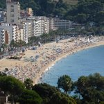 View of main Lloret beach
