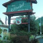 Der Ritterhof Signage from street front