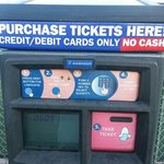 close look at one of the ticket vending machines of Deuce