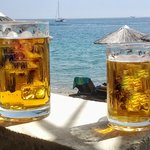 Cold beer with majestic view