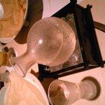 "The sake served on ice at the restaurant ""Mitsuki"""