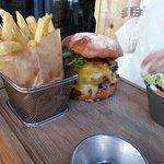 mushi something burger w fries