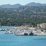 Moraira marina and fort