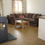 Delfryn - Lounge with Wood Burning Stove