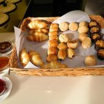 Breakfast buffet - a choice of croissants, muffins and crispy rolls