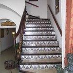 escalier de la salle du petit déjeuner