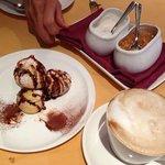 profiteroles with coffee cream