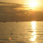 mare e spiaggia tramonto