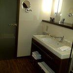 Bathroom room is large