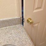 Bathroom door doesn't shut