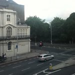 Our view of Merrion Square across from  The American College