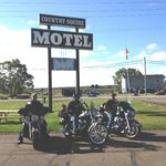 Motor bikers at Country Squire Motel