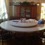 Dining room and built in Lazy Susan