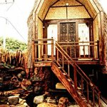 This is bale sasak orifinal house from lombok long time ago..