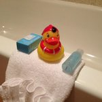 Crabtree & Evelyn products and a rubber ducky!